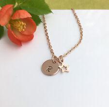 Personalisierte Rose Gold Initial Halskette Stern Anhänger Geschenkbox