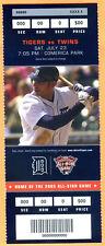 7/23/05 TIGERS/TWINS FULL TICKET-ROOKIE JUSTIN VERLANDER'S MLB DEBUT @ HOME-GM#2