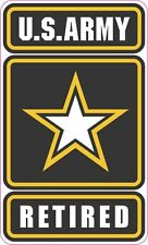 US Army Retired Vinyl Sticker Decal 4 inch