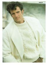 Mans Aran sweater, jumper, pullover cable Knitting pattern.