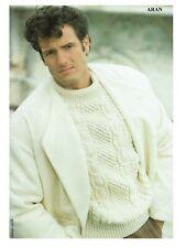 Mans Aran sweater, jumper, pullover cable Knitting pattern. Raglan sleeves.