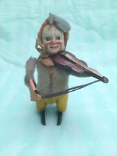 Vintage SCHUCO Wind Up Clown Jouant Violon