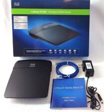 Cisco Linksys E1200 Wireless N300 Wi-Fi Router with set up CD in original box