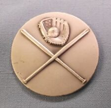 """lot of 3 high relief metal baseball silver trophy parts 2"""" diameter"""