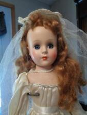 "Pretty Vintage Hard Plastic Bride Doll~17""~Sweet Sue/Nancy Ann Style Show Type?"