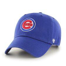 Chicago Cubs 47 Brand MLB Strapback Adjustable Dad Cap Hat Clean Up Circle Logo