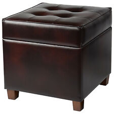 2-in-1 Leather Ottoman Storage Footrest Stool Foot Rest Chair Seat Sofa Couch