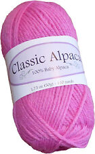 Classic Alpaca 100% Baby Alpaca Yarn #2061 Pretty Pink 50g/110 yds DK Peruvian