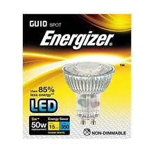 x 2 Energizer 5w (=50w) LED GU10 Glass Spotlight Bulb, 36° - Warm White (3000k)