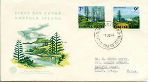 NORFOLK ISLAND  1965  7c and 9c Pictorials   FDC  #88-89