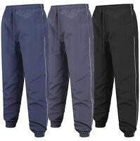 Mens Tracksuit Bottoms One Striped Jogging Trousers Sport Gym Zip Pockets S-2XL