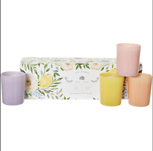 DW HOME Gift Set 4 Votive Essential Oil Scented Cotton Wick Candles