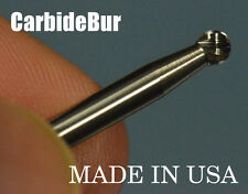 "Solid Carbide Burr Sd-42 Single Cut 1/8"" Ball Shape Tool Bur Bit"