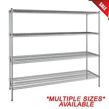 """Any Size"" Heavy Duty Chrome Metal Wire Shelf Rack Commercial Store Shelving Nsf"