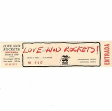 LOVE AND ROCKETS Concert Ticket Stub VALENCIA SPAIN 6/23/88 AUDITORIUM PACHA