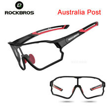 ROCKBROS Photochromatic Cycling Glasses Full Frame Sports Sunglasses Goggles Red
