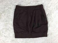 Miss Sixty Diamond Women's Size X Small XS Brown Mini Skirt Front Pocket. W