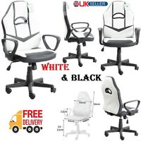 Office Executive Racing Gaming Chair Swivel Lift PU Leather Computer Desk Chairs