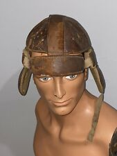 Antique 1930s Leather Dog Ear Football Helmet Hendrix College Warriors Conway AR
