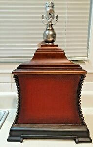 Uttermost  Pavia Table Lamp w-o Shade Antiqued Aged Red w/Antiqued Bronze 26326
