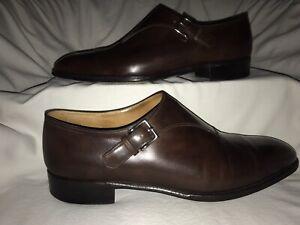 JOHN LOBB 'Jermyn II' Brown Leather Single Monk Strap UK 10E (11US) MSRP $1600