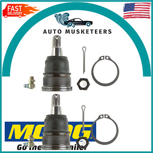 For Acura Honda Civic Pair Set of 2 Front Lower Press-in Type Ball Joints Moog