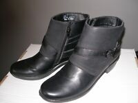 Easy Street Womens Amanda Closed Toe Ankle Fashion Boots, Black Matte, Size 7.5