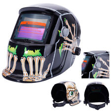 Automatic Darkening Welding Helmet Pro Solar Mask Welder Safety Skull Pattern