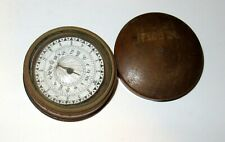 New listing Antique Wood Wooden Treen Pocket Sundial Compass - Works!