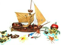 Mega Bloks Large Custom Pirate bundle, Ships, Pirates, and Parts