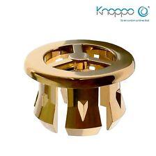 KNOPPO® Waschbecken Überlauf Abdeckung / Design Überlaufblende - Fan (gold)