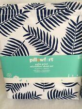 Pillowfort Palm Print Microfiber Twin Sheet Set - Brand New