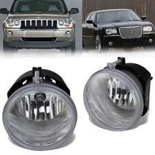 for 05-10 Jeep Grand Cherokee Aspen Durango 300 Clear Bumper Fog Light Lamp PAIR