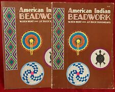 LOT OF 2 AMERICAN INDIAN BEADWORK BOOKS MANUALS Y W. BEN HUNT PAPERBACK BOOKS