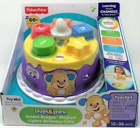 Fisher-Price Musical Lights Birthday Cake Laugh and Learn Smart Stages Toy