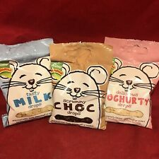 3 Small Animal Rotastak Milk Yoghurt Choc Drop Treats Reward Hamster Rabbit etc