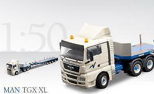 Camion MAN TGX XL avec Semi-remorque Télescopique GOLDHOFER SPZ DL4 4 Essieux,CO