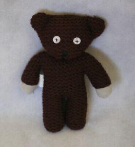 vintage MR BEAN knitted brown teddy TEDDY +-17cm