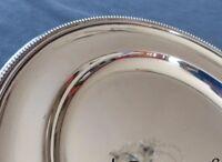 CHRISTOFLE PERLES Large round Platter 30cm PLat rond Service Brilliant luster
