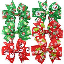 8X in Set Girl Baby Christmas Hair Bow Clip Hairpin Headband Hair Band Barrettes