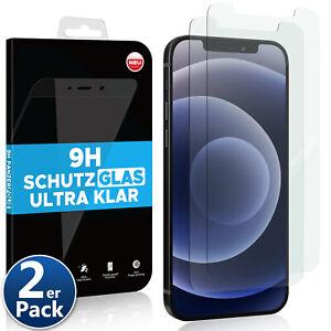 2x Echt Glas Schutzglas für iPhone 12 11 X XS XR 8 Pro Max Mini 9H Panzer Folie