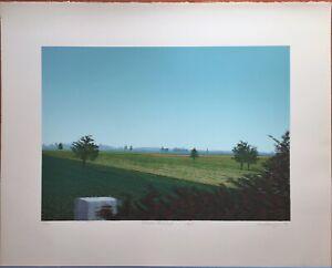 """Bernd Schwering, """"Vorbeifahr-Landschaft"""", 1974,  Serigrafie, handsigniert, numie"""