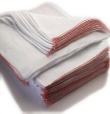 10 Jumbo  Cotton Extra Large White Dishcloths Cleaning Cloths Ultra Absorbent