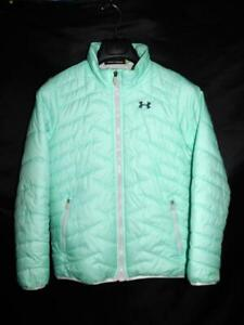 Under Armour Youth Girls L Mint Green CGR Jacket Quilted Insulated Coat YLG Kids