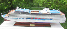 "Oceania Cruises Riviera Cruise Ship Model 47"" Handcrafted Wooden Scale 1:200"