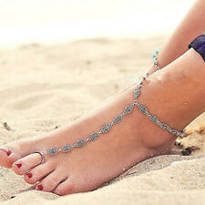 Silver Flowers Fashion Anklet Ankle Bracelet Women Foot Chain Beach Jewellery