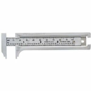 General Tools 132ME 3-Inch English and Metric Pocket Sliding Bar Caliper