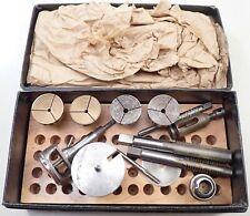 Collet Attachment Set W/Case Vintage 6mm Watchmaker Watch Lathe
