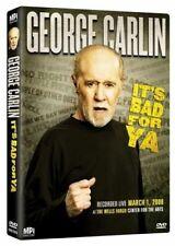 George Carlin It S Bad for YA 0030306787695 DVD Region 1 P H