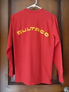 BULTACO CEMOTO Motorcycle  Red Long Sleeved T Shirt Unisex Size Med. Brand New